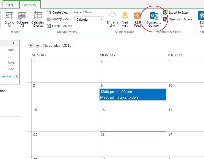 افزدون تقویم به Outlook