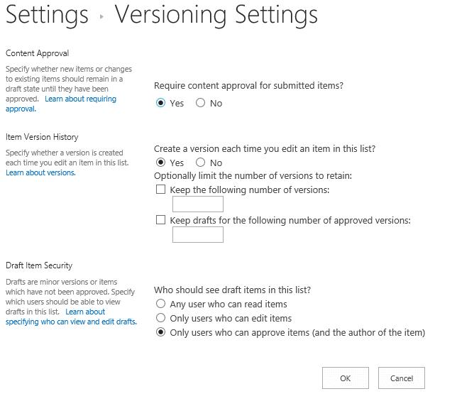 Ver-Settings